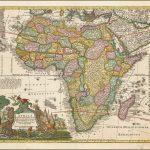 Редкая карта Африки Маттауса Зюттера, сделанная в 1730 году
