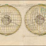 Редкая карта мира в двух полушариях, напечатанная с двух пластин на одном листе, издана Пьером Мюлларом Сансоном