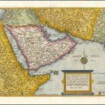 Старинная карта Ближнего Востока Корнелиуса де Жода из его книги Speculum Orbis Terrae, опубликованной в Антверпене в 1578 году