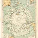 Карта с подробным отчетом об исследованиях в южных полярных областях