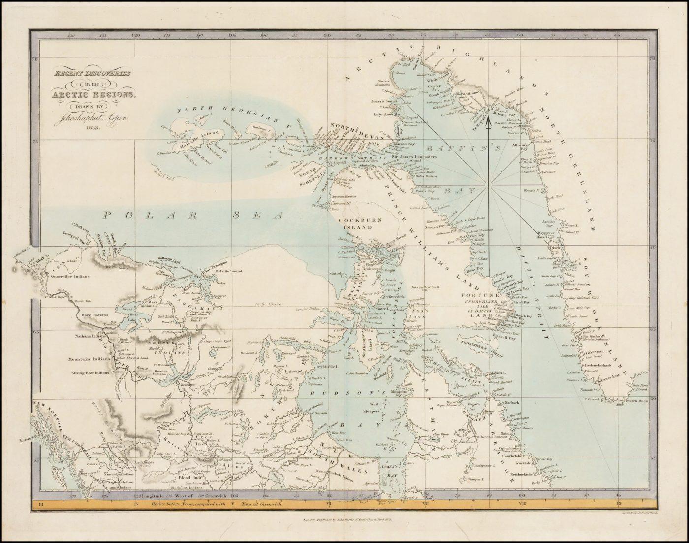 Недавние открытия в арктических регионах сделанные Иосафатом Аспином в 1833 г.