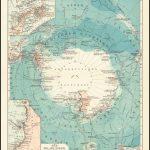 Прекрасно выполненная карта южных полярных областей, опубликованная в Лейпциге Джозефом Мейером