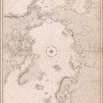Редкая карта полярных областей изданная в декабре 1855 года в Лондоне Британским Адмиралтейством
