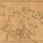 Старинная карта Уильяма Баумана 1876 года, показывающая Полярную область